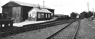 Brill railway station - Brill station at the time of closure