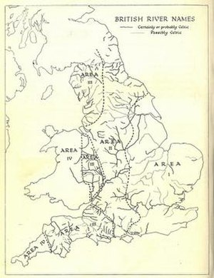 Hydronym - Image: British river names of celtic etymology