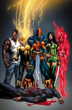 Teen Titans - Promotional image for Titans: Villains for Hire Special, featuring the team. Art by Fabrizio Fiorentino.