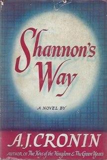 <i>Shannons Way</i> book by Archibald Joseph Cronin