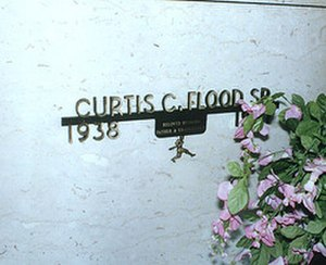 Curt Flood - The grave site of Curt Flood.