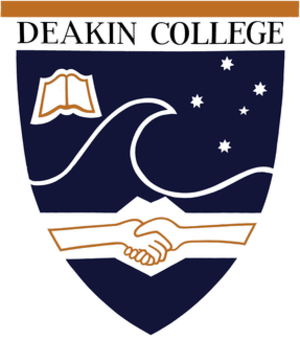 Alfred Deakin College (Deakin University) - Image: Deakin College Shield
