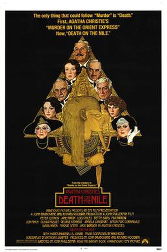 "Death on the Nile (1978 film) - For the US market, artist Richard Amsel was commissioned to do a film poster which reflected the US public interest in ""King Tut"" at the time."