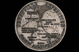Jacques-René de Brisay de Denonville, Marquis de Denonville - Reverse of the Denonville medal