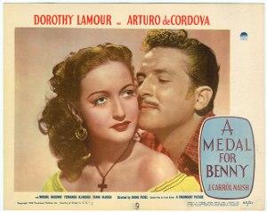 A Medal for Benny - Lobby card