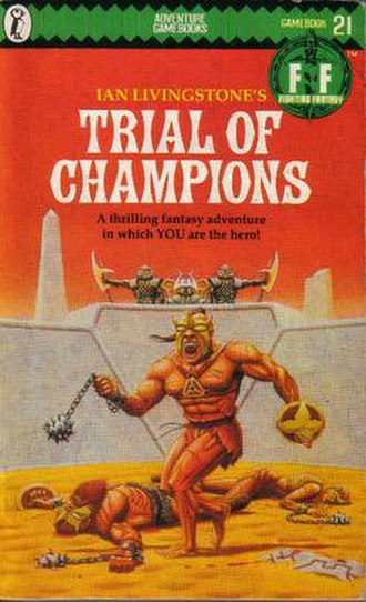 Trial of Champions - The original Puffin Books cover (1986)