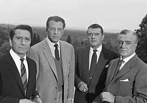 The Four Just Men (TV series) - Richard Conte, Dan Dailey, Jack Hawkins and Vittorio De Sica