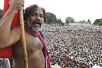 Gaddar in a meeting in Nizam College Grounds- 2005.jpg