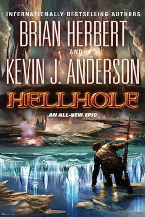 Hellhole (novel) - Cover of first edition hardcover.