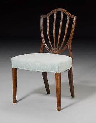 George Hepplewhite - Image: Hepplewhite style Mahogany Dining Chair
