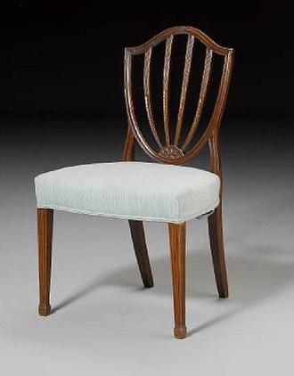 George Hepplewhite - Image: Hepplewhite style Mahogany Dining Chair