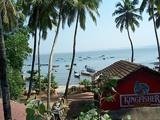 United Breweries Group - A Kingfisher beer advertisement in Goa