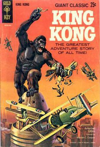 King Kong (comics) - King Kong and his iconic battle with airplanes atop the Empire State Building. From the 1968 adaptation of King Kong courtesy of Gold Key Comics