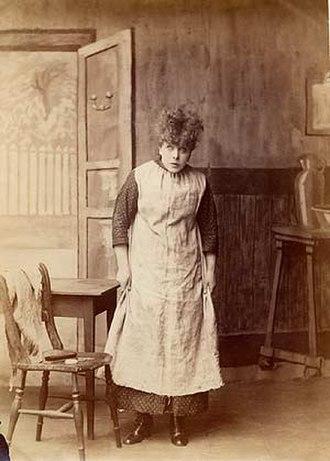 Effie Bancroft - As Nan, in Good for Nothing (1879)