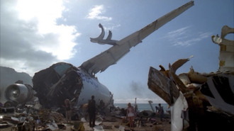Pilot (Lost) - Some of Oceanic Flight 815's wreckage