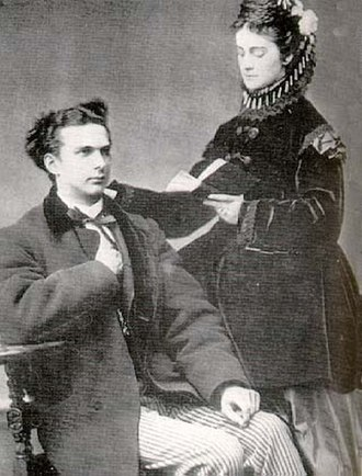 Ludwig II of Bavaria - Ludwig II and Duchess Sophie Charlotte in Bavaria in 1867