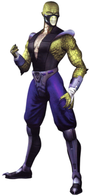 Reptile (Mortal Kombat) - Originally a palette swap of Scorpion, Reptile's design evolved as the series progressed.