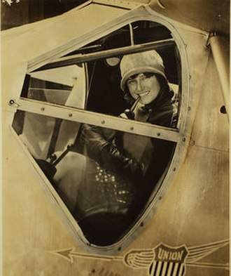 Marvel Crosson - Crosson in the cockpit of a Ryan Brougham, ca. 1929