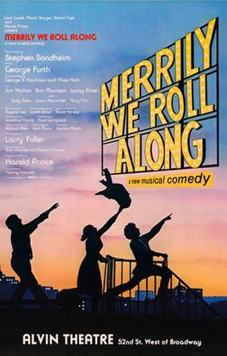 Merrily We Roll Along (musical) - Original Broadway poster for Sondheim-Furth musical