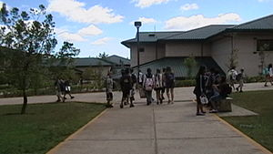 Students at Mililani Middle School