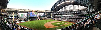 Miller Park (Milwaukee) - Miller Park panorama from August 20, 2013.
