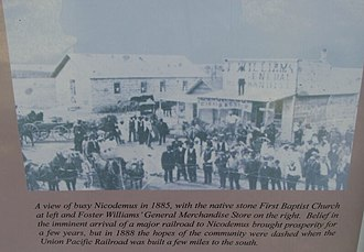 Nicodemus National Historic Site - Nicodemus in 1885