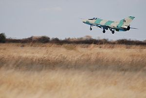 Namibian Air Force - Air Force F7 taking off