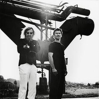 Neu! - Neu! in 2000. From left to right: Klaus Dinger, Michael Rother.