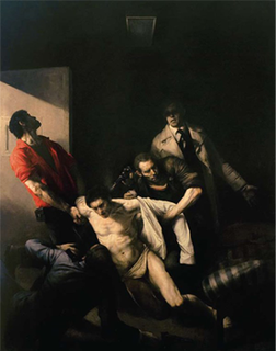 <i>The Murder of Andreas Baader</i> painting by Odd Nerdrum