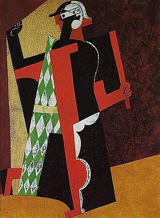 Crystal Cubism - Pablo Picasso, 1917, Arlequin (Harlequin)