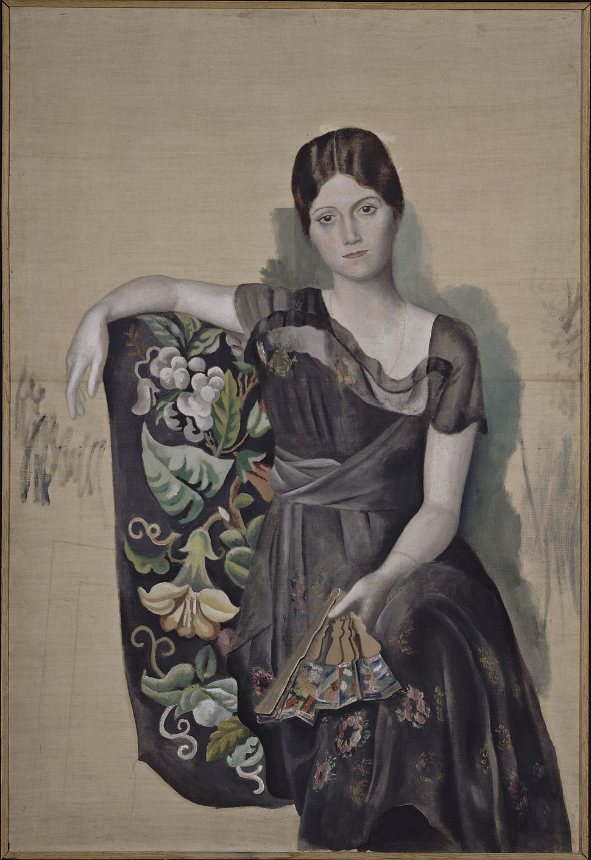 Pablo Picasso, 1917-18, Portrait d'Olga dans un fauteuil (Olga in an Armchair), oil on canvas, 130 x 88.8 cm, Musée Picasso, Paris, France