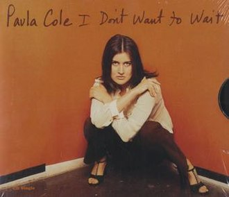 I Don't Want to Wait - Image: Paula Cole I Don't Want to Wait US CD cover