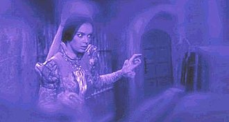 The Pit and the Pendulum (1961 film) - Barbara Steele as Elizabeth Medina, in one of the film's tinted, nightmarish flashback sequences
