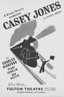 Playbill, original production, Robert Ardrey's Casey Jones.jpg