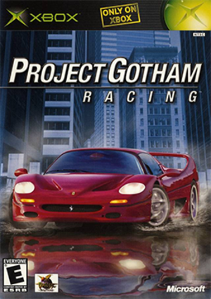 Project Gotham Racing (video game) - Image: Project Gotham Racing Coverart