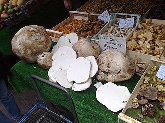 Calvatia gigantea - Image: Puffball Mushrooms On Sale