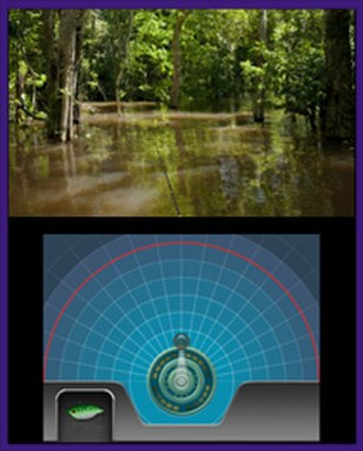 Reel Fishing - A player casting a line in Reel Fishing Paradise 3D.