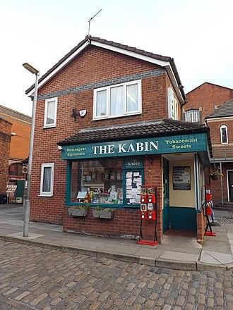 Weatherfield - Original Kabin at Coronation Street: The Tour at the former Granada Studios, Quay Street, Manchester