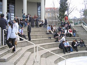 Robert College Students in the Forum