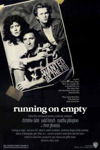 Running on Empty (1988 film) - Theatrical release poster