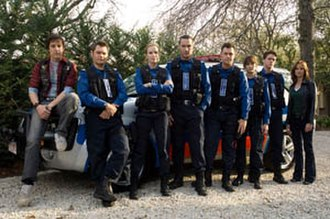 Rush (2008 TV series) - First series characters (from left to right): Leon Broznic, Dominic Wales, Grace Barry, Brendan Joshua, Lawson Blake, Stella Dagostino, Michael Sandrelli and Kerry Vincent.