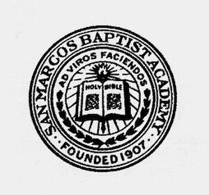 San Marcos Baptist Academy - Image: SMBASEAL