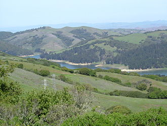 San Pablo Reservoir - San Pablo Reservoir from Inspiration Point in Tilden Park.