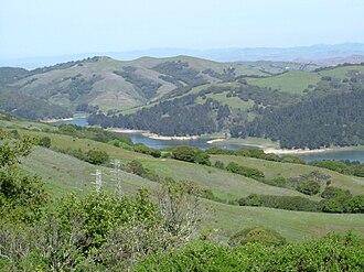 San Pablo Reservoir - San Pablo Reservoir from Inspiration Point in Tilden Park