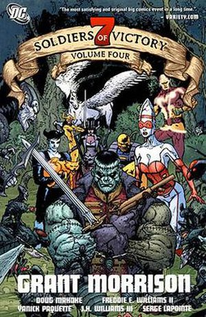 Seven Soldiers - Cover to Seven Soldiers of Victory, Vol. 4 (TPB). Art by Doug Mahnke.