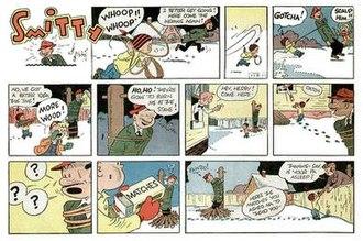 Smitty (comic strip) - Herby in Walter Berndt's Smitty (February 13, 1955)