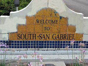 South San Gabriel, California - South San Gabriel welcome sign