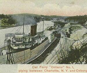 Charlotte, Rochester, New York - Ontario I docked at Charlotte circa 1907