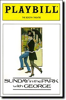<i>Sunday in the Park with George</i> 1984 musical by Stephen Sondheim and James Lapine