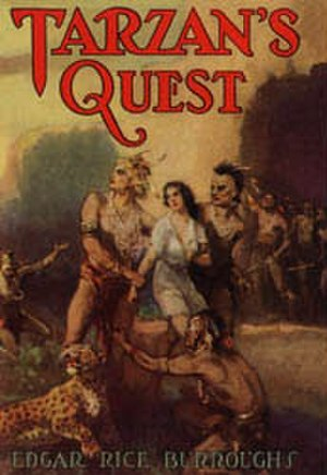 Tarzan's Quest - Dust-jacket illustration of Tarzan's Quest